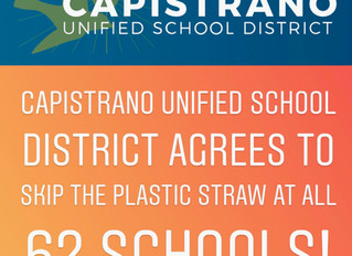 Orange County's Largest School District Skips the Plastic Straw!