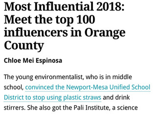 I'm a Top 100 Influencer in Orange County!