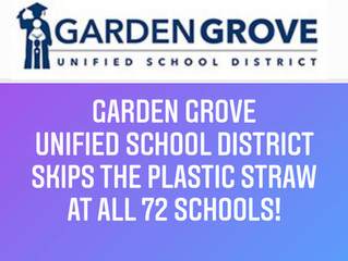 Garden Grove Unified School District Joins Skip the Plastic Straw!