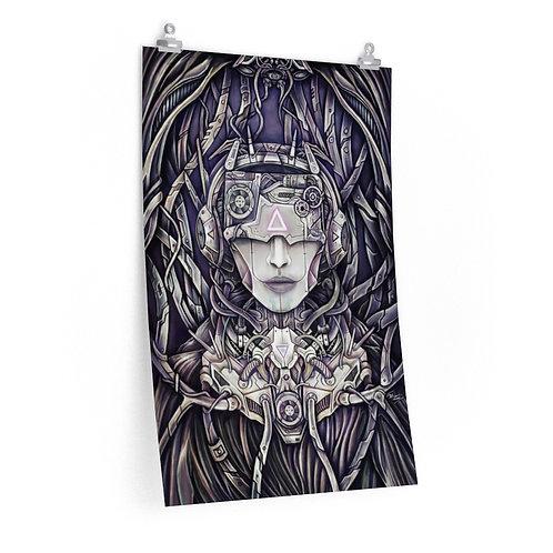 Cyborg Science Fiction Matte Poster Print by Ian Michael Gray