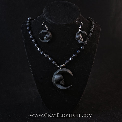 Deluxe Luna Necklace and Earrings set