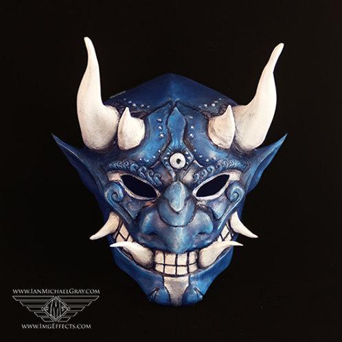 Oni/Samurai Mask Blue/White/Silver