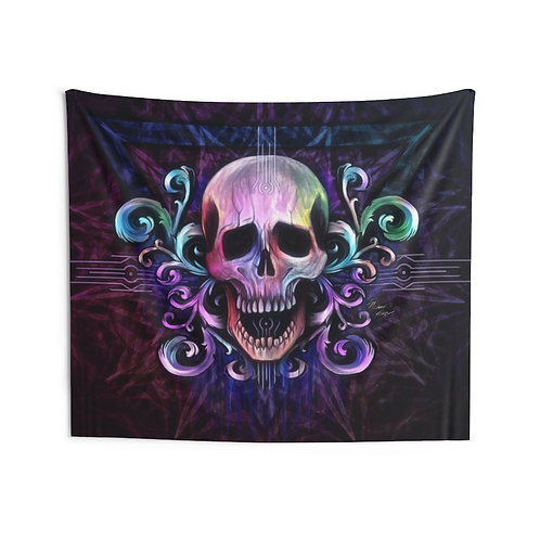 Victorian Skull Wall Tapestry Multiple Sizes