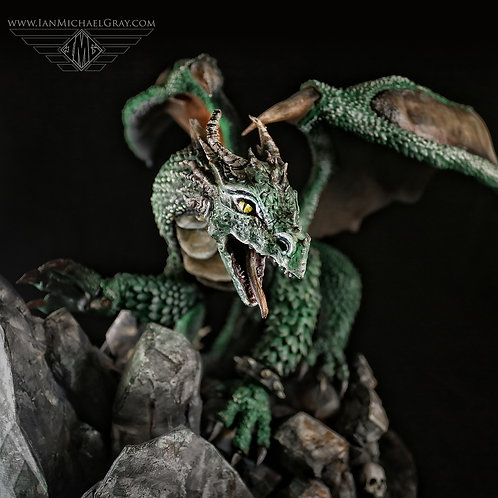 "14"" Inch Scale Dragon Statue"