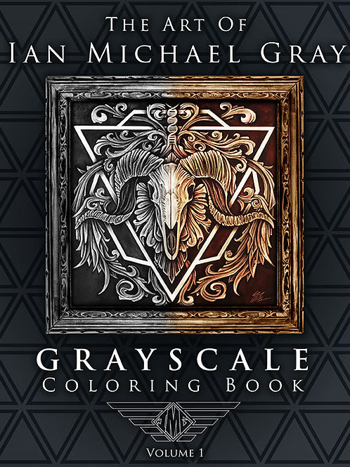 The Art Of Ian Michael Gray - Grayscale Coloring Book