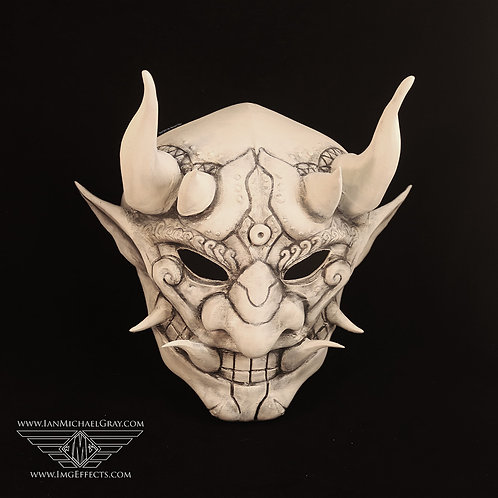 Oni/Samurai Mask Antique White
