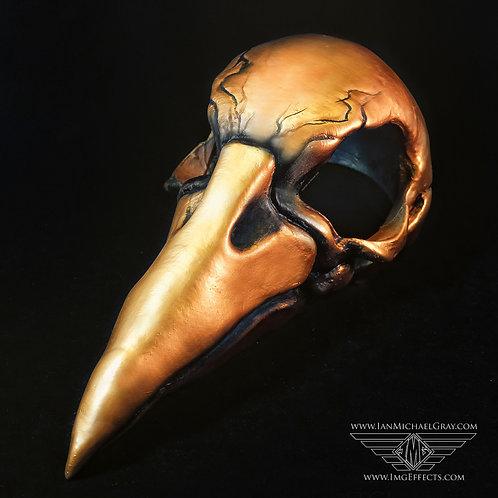 Raven/Plague Doctor Mask Antique Gold