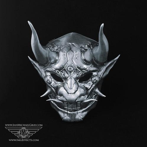 Oni/Samurai Mask Antique Silver