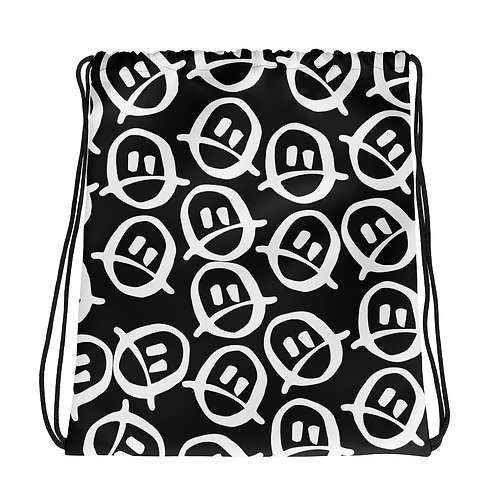 Renee Phoenix Frowny Drawstring Bag