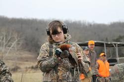 Hunter with her bird