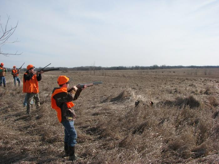 2015 MDS MWT Youth and Hunters with a Disability Pheasant Hunt pointers