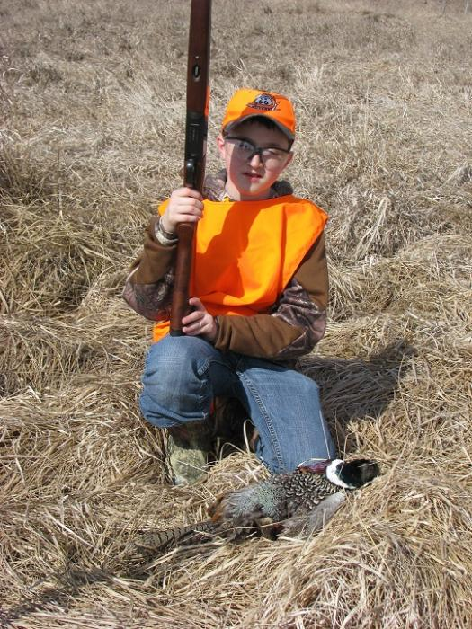 2015 MDS MWT Youth and Hunters with a Disability Pheasant Hunt Brandon's bird