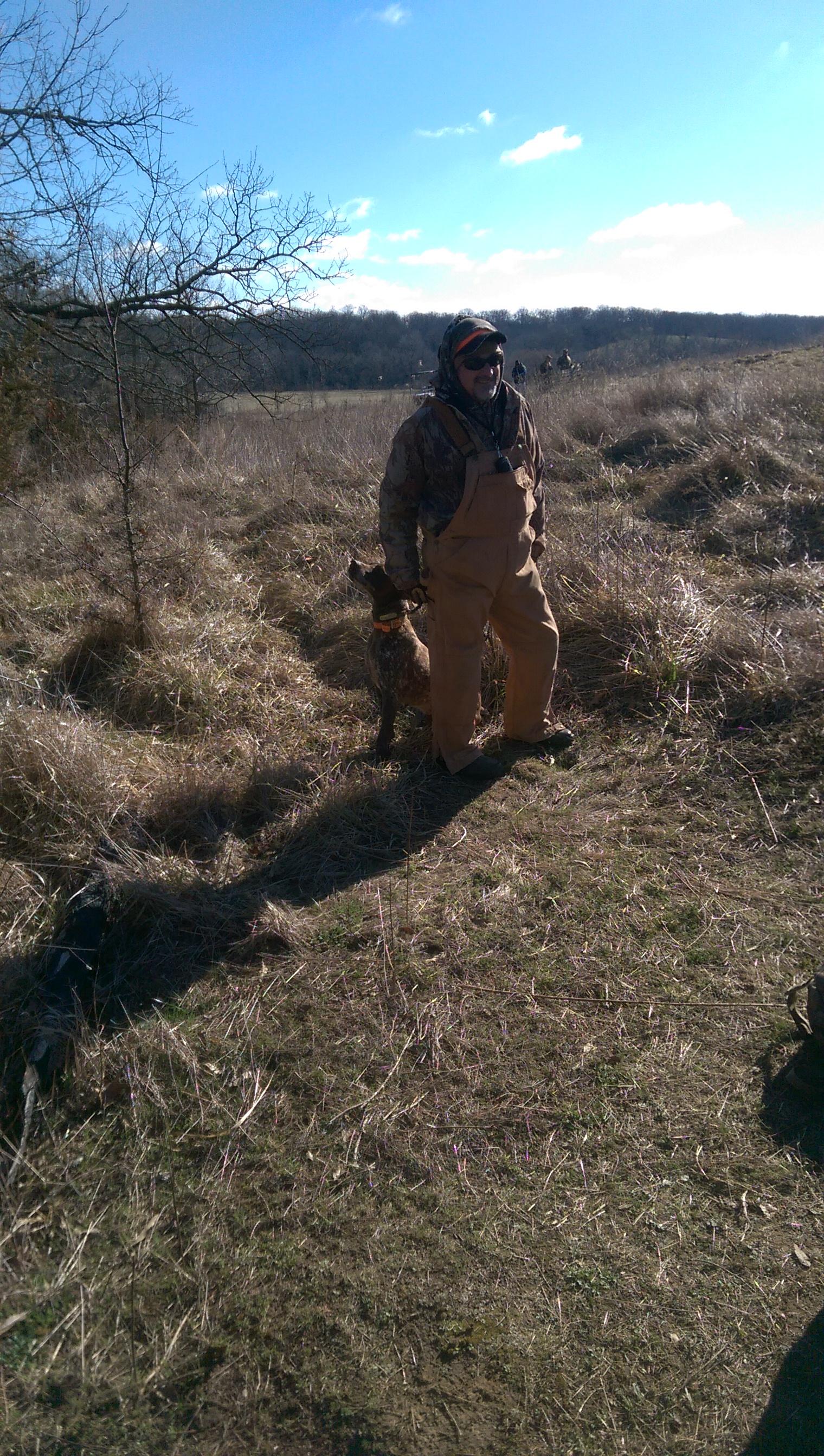Dog handler with retriever