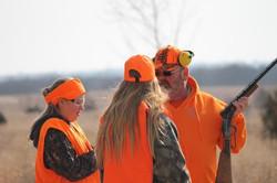 Hunters chatting