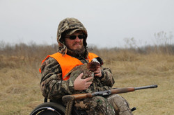 Hunter with his bird