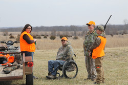 Hunters taking a break