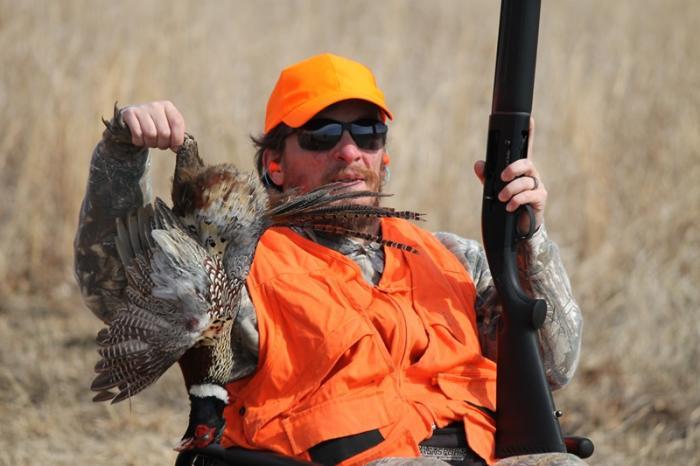Hunter with bird