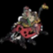 Man riding ladybug Illustration