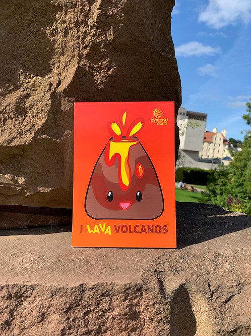 I Lava Volcanos Notepad