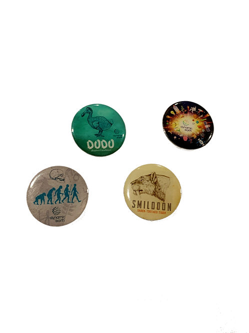Natural History Pin Badges