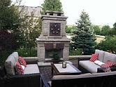 Fireplace, Planting, Unilock