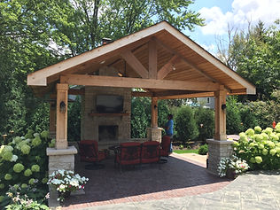 Opened Gazebo, Fireplace, Brick Patio, Entertainment Area, Unilock