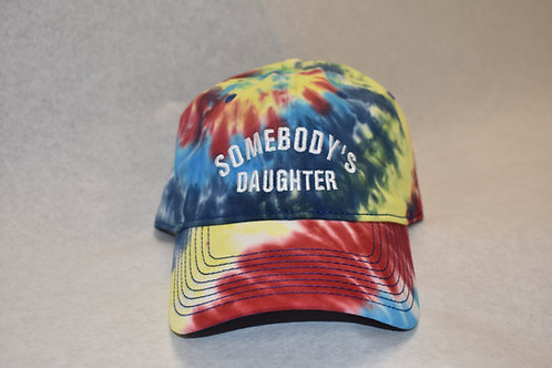 the somebody's daughter hat - red tie dye