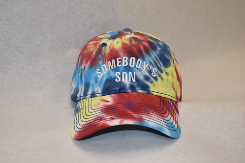 the somebody's son hat - red tie dye