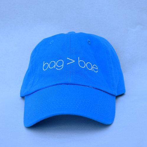 bag > bae hat - neon blue