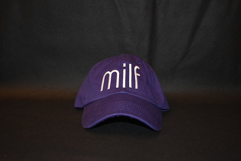 the milf hat - purple & white
