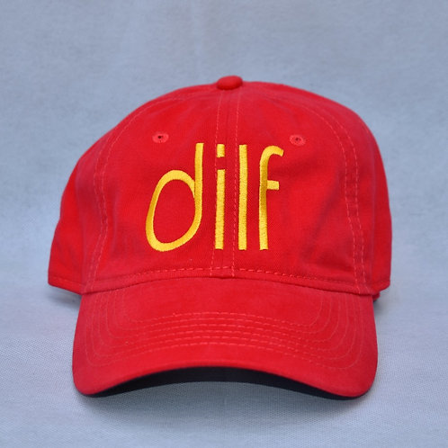 the dilf hat - red & yellow