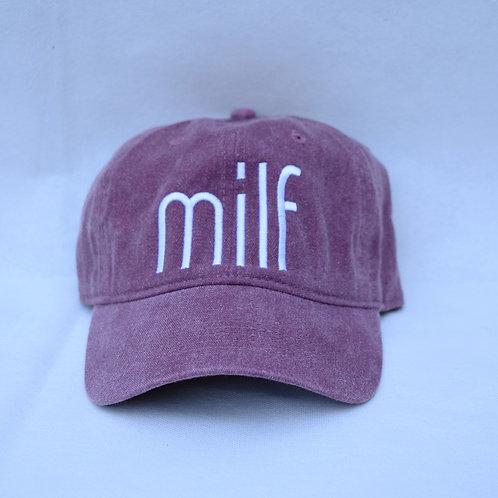 the milf hat - eggplant