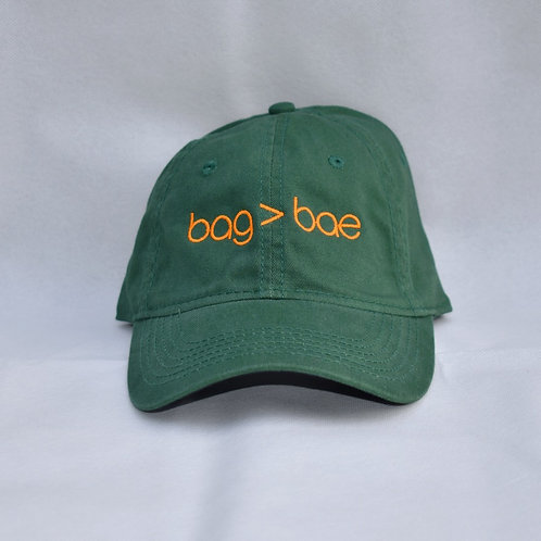 bag > bae hat - green & orange