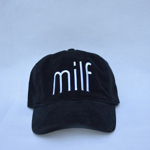 the milf hat - black