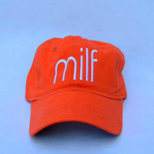 the milf hat - orange
