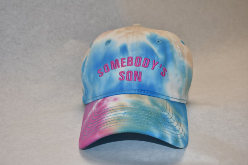 the somebody's son hat - blue tie dye