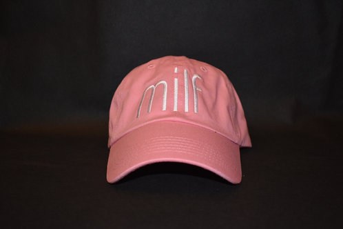 the milf hat - pink & white