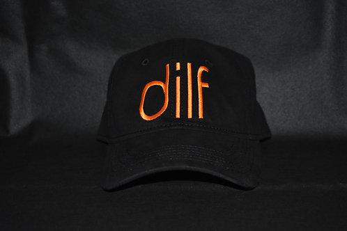 the dilf hat - black & orange