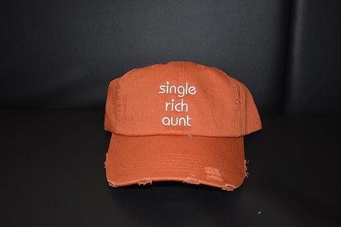 the single rich aunt hat - orange