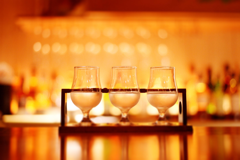 レア地酒も多数。