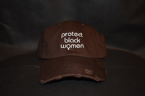 the protect black women hat - brown