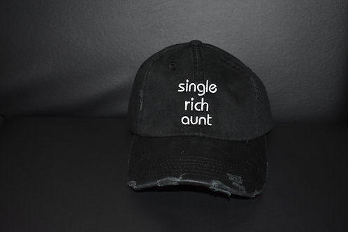 the single rich aunt hat - black