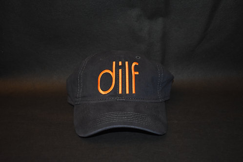 the dilf hat - blue & orange