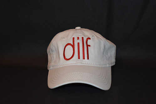 the dilf hat - white & red