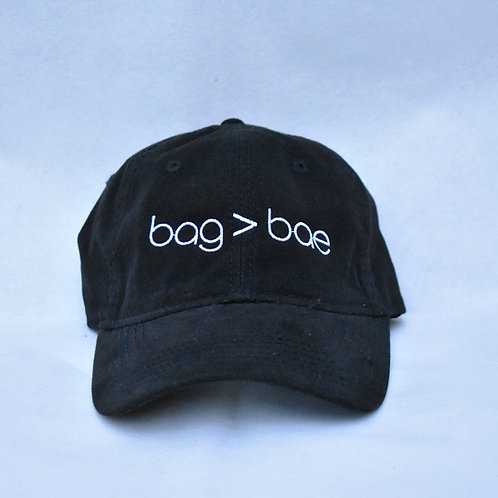 bag > bae hat - black