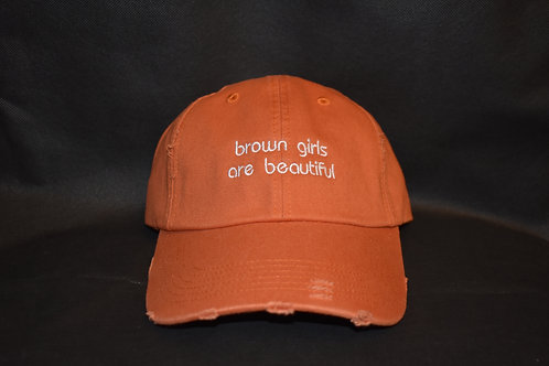 the brown girls are beautiful hat - orange
