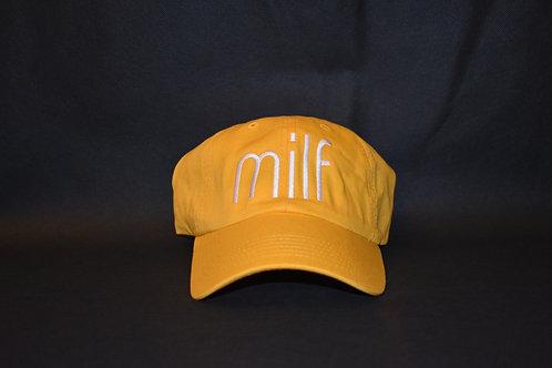 the milf hat - yellow & white