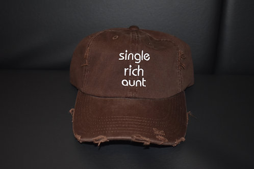 the single rich aunt hat - chocolate brown