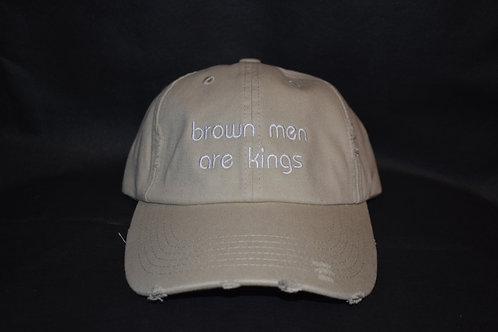 the brown men are kings hat - khaki