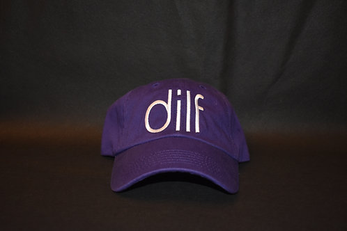 the dilf hat - purple & white